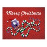 Pulpo del navidad con las rayas postales