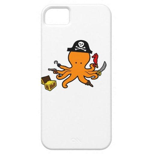 Pulpo del pirata iPhone 5 funda