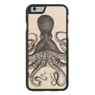 Pulpo del vintage funda de iPhone 6 carved® slim de arce