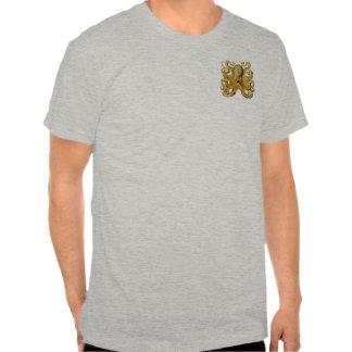 Pulpo del vintage camisetas