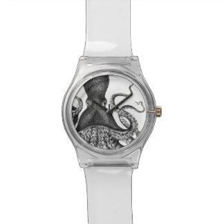 Pulpo del vintage relojes de pulsera