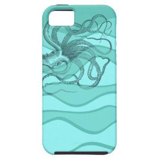 Pulpo en aguamarina y turquesa del trullo iPhone 5 Case-Mate fundas