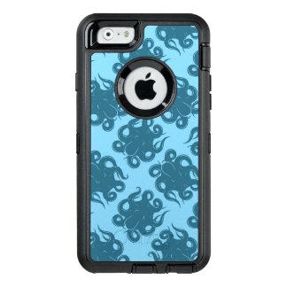 Pulpo en modelo azul funda OtterBox defender para iPhone 6