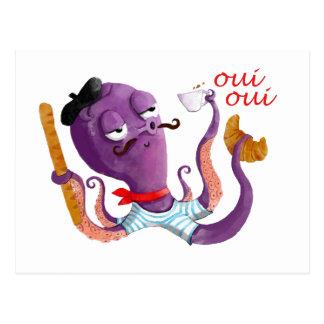 Pulpo francés tarjetas postales
