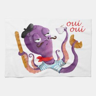 Pulpo francés toalla de cocina