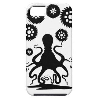 Pulpo fresco de Steampunk - engranaje de Kraken Funda Para iPhone SE/5/5s