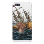 Pulpo gigante de Steampunk Kraken náutico iPhone 5 Funda