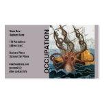 Pulpo gigante de Steampunk Kraken náutico Tarjetas De Visita