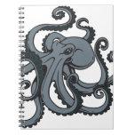 Pulpo gris cuaderno