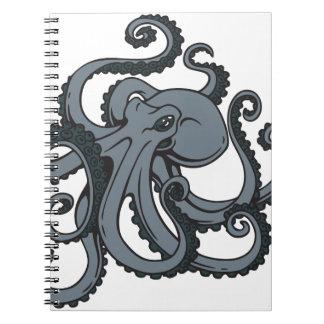 Pulpo gris spiral notebook