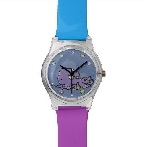 pulpo gruñón relojes de pulsera