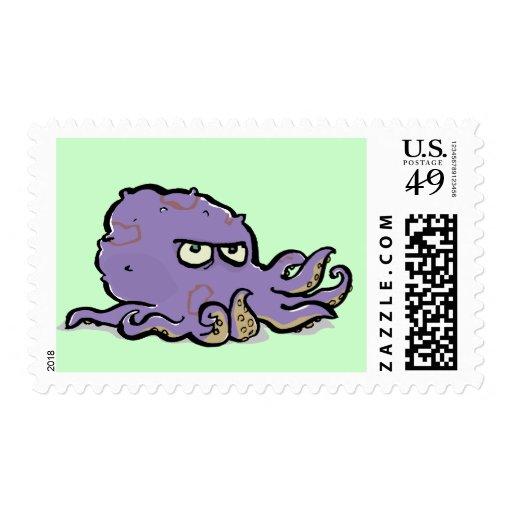 pulpo gruñón timbres postales