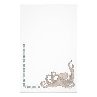 Pulpo inmóvil animal de los amantes del mascota in  papeleria de diseño