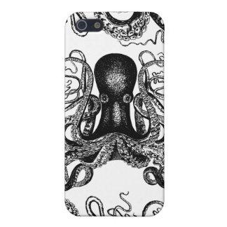 Pulpo Kraken del Victorian iPhone 5 Carcasas