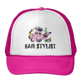 Pulpo negro y rosado del estilista gorro