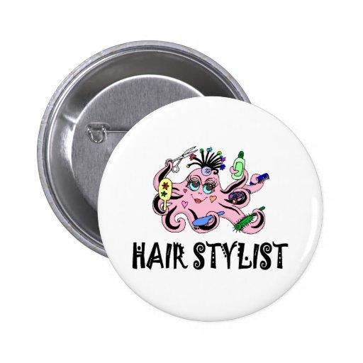 Pulpo negro y rosado del estilista pin