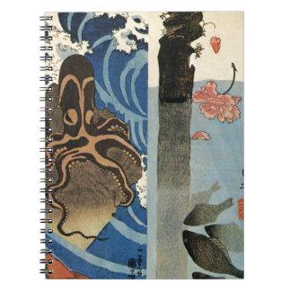 Pulpo, pescado rojo de Utagawa Kuniyoshi Cuadernos