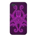 Pulpo púrpura complejo iPhone 4/4S fundas
