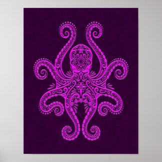 Pulpo púrpura complejo póster