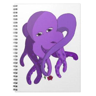 Pulpo púrpura libros de apuntes