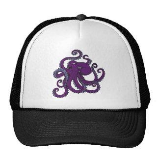 Pulpo púrpura oscuro gorras