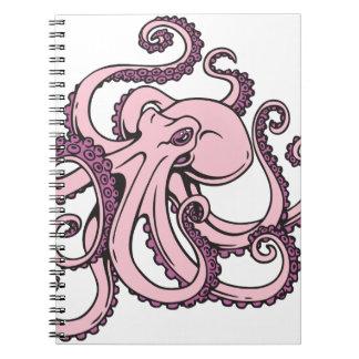 Pulpo rosado cuaderno