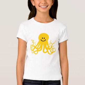 Pulpo/smiley amarillo de Kraken Remeras