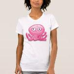 pulpo tonto rosado lindo camisetas