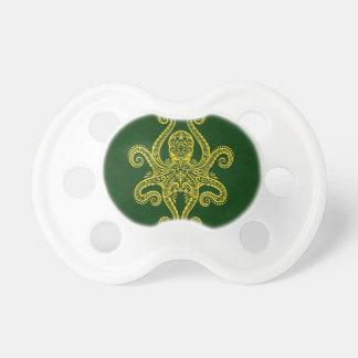 Pulpo verde de oro complejo chupetes de bebé