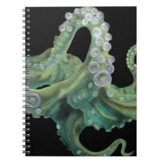 Pulpo verde libros de apuntes con espiral