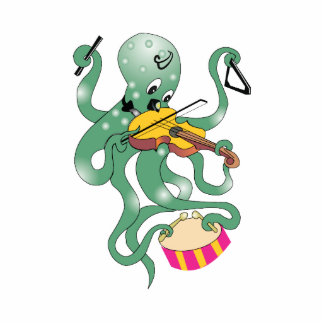 pulpo verde que juega percussion.png múltiple esculturas fotograficas