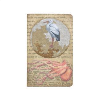 Pulpo y egret cuadernos grapados