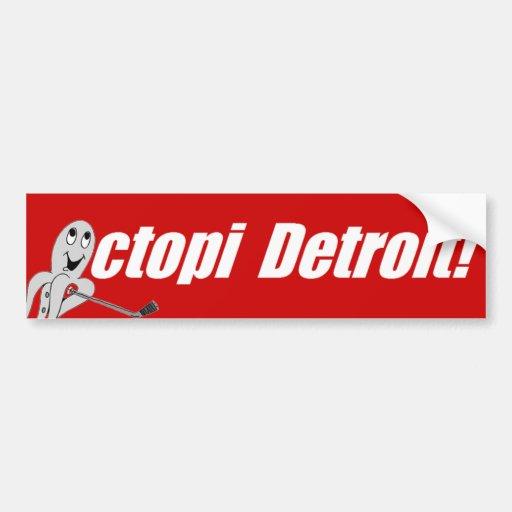¡Pulpos Detroit! - Hockey Pegatina Para Auto
