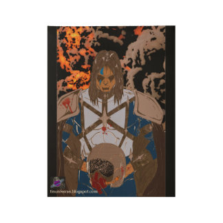 """Pulpy In Blood Wood Poster, 19"""" x 14.5"""" Wood Poster"""