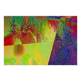 Pulsación de corriente abstracta poster