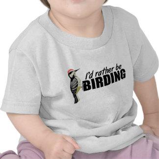 Pulsación de corriente de Birding Camiseta