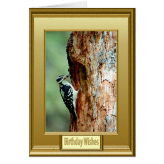 Pulsación de corriente en un árbol tarjeta de felicitación