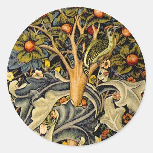 Pulsaciones de corriente de William Morris del Pegatina Redonda