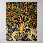 Pulsaciones de corriente de William Morris del vin Poster