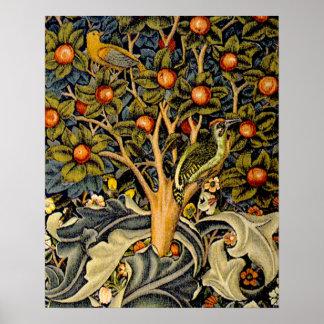 Pulsaciones de corriente de William Morris del vin Póster