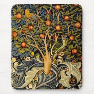 Pulsaciones de corriente de William Morris del vin Tapete De Raton