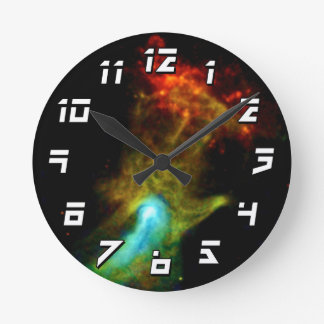 Pulsar B1509 - Hand of God X-Ray Nebula NASA Photo Round Clock