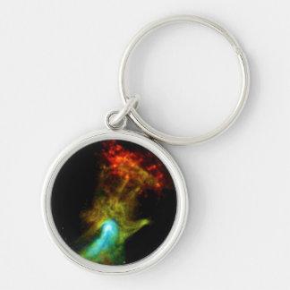 Pulsar B1509 - Mano de dios Llavero Redondo Plateado