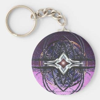 pulsar basic round button keychain