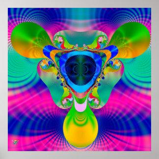 Pulsar Overdrive. poster print fractal sun field