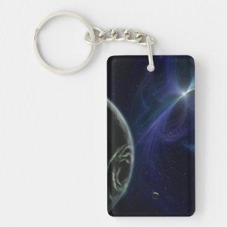 Pulsar Planet Alien Space Art Double-Sided Rectangular Acrylic Keychain