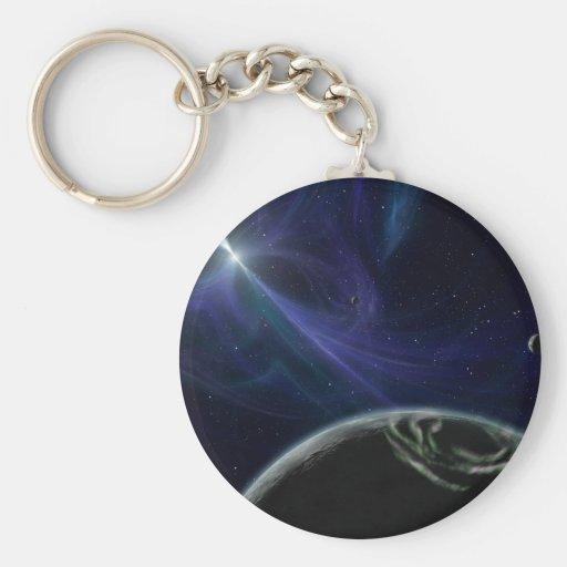 Pulsar Planet Alien Space Art Key Chain