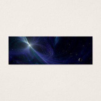 Pulsar Planet Alien Space Art Mini Business Card