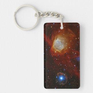 Pulsar SXP 1062 Star Space Astronomy Double-Sided Rectangular Acrylic Keychain