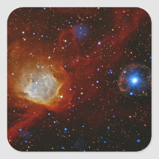 Pulsar SXP 1062 Star Space Astronomy Square Stickers
